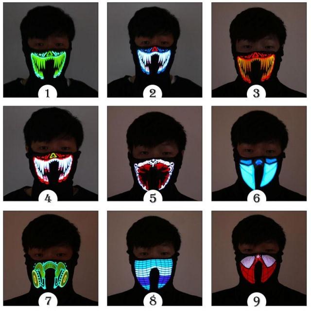 Luminous LED Rave Mask